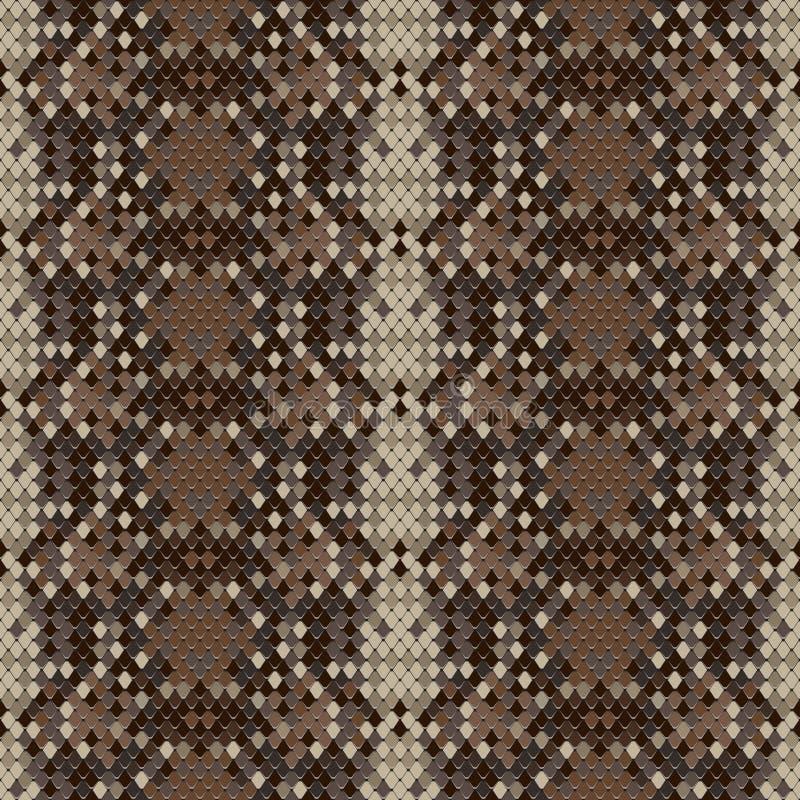 Картина гада кожи змейки безшовная стоковое фото rf
