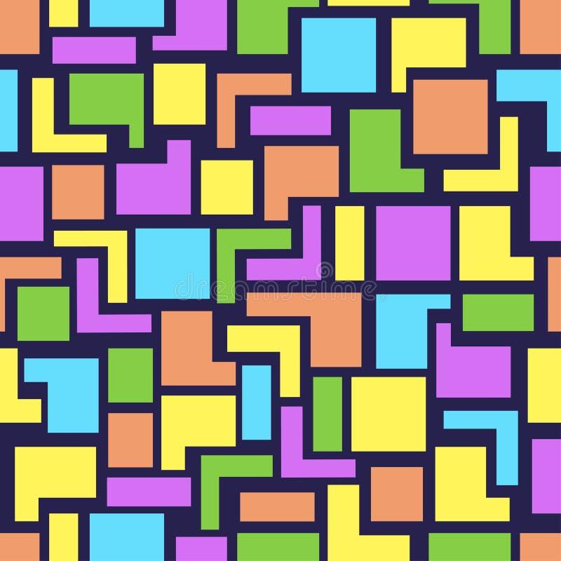 Картина геометрии вектора безшовная иллюстрация вектора