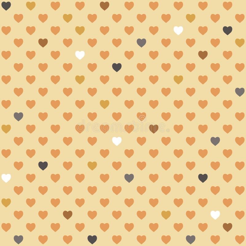 Картина геометрических сердец безшовная стоковые изображения rf