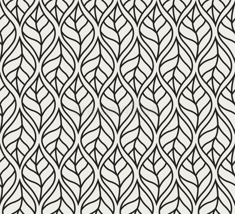 Картина геометрического вектора лист безшовная Флористическая предпосылка иллюстрации иллюстрация вектора