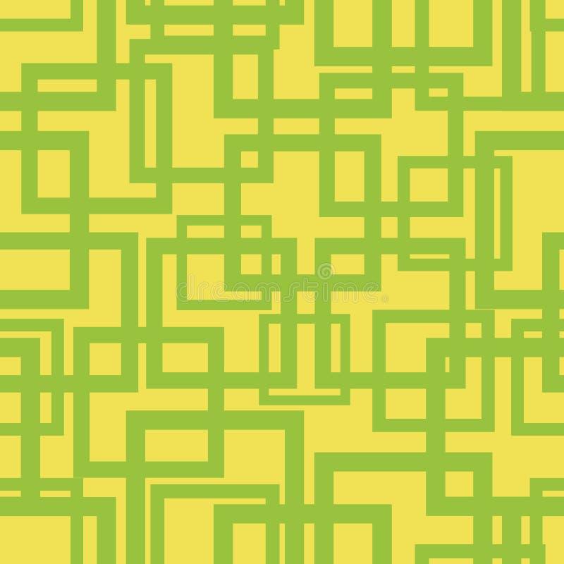 Картина геометрического квадратного вектора формы безшовная иллюстрация вектора