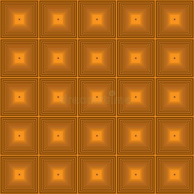Картина геометрического современного вектора безшовная Современные желтые обои предпосылки с золотыми декоративными абстрактными  бесплатная иллюстрация