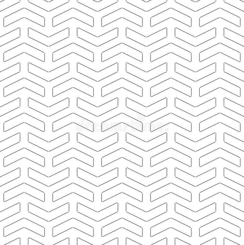 Картина геометрического современного вектора безшовная иллюстрация вектора