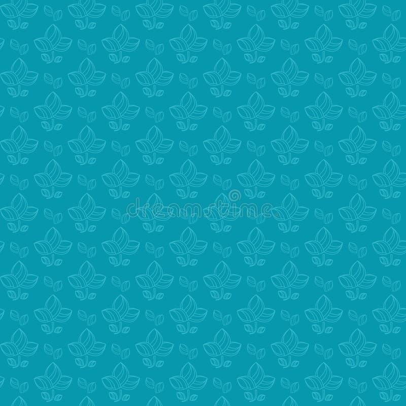 Картина голубого силуэта цветка безшовная бесплатная иллюстрация