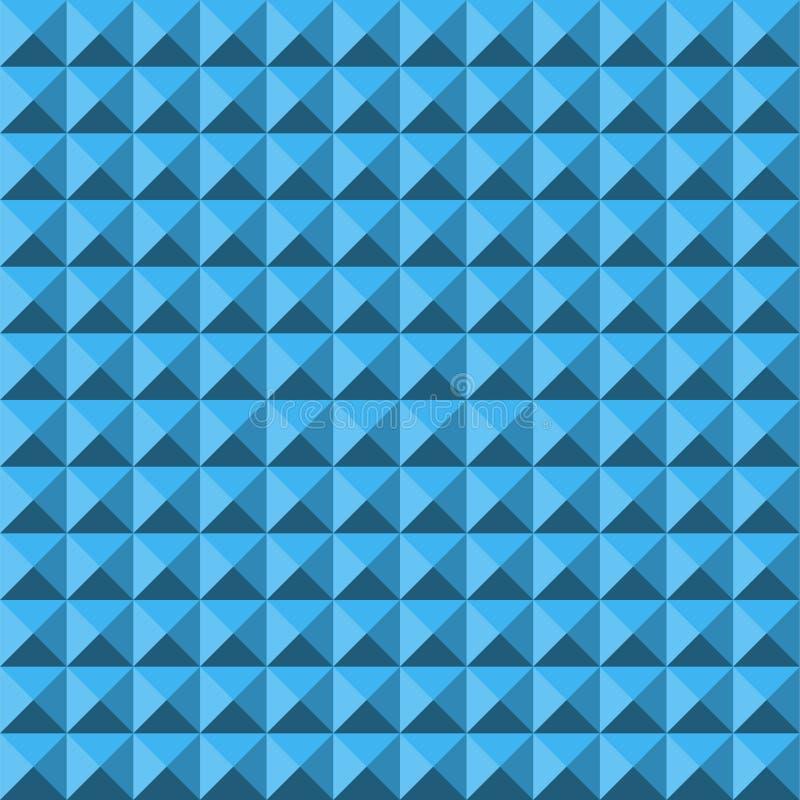Картина голубой абстрактной текстуры пирамиды сброса безшовная иллюстрация штока