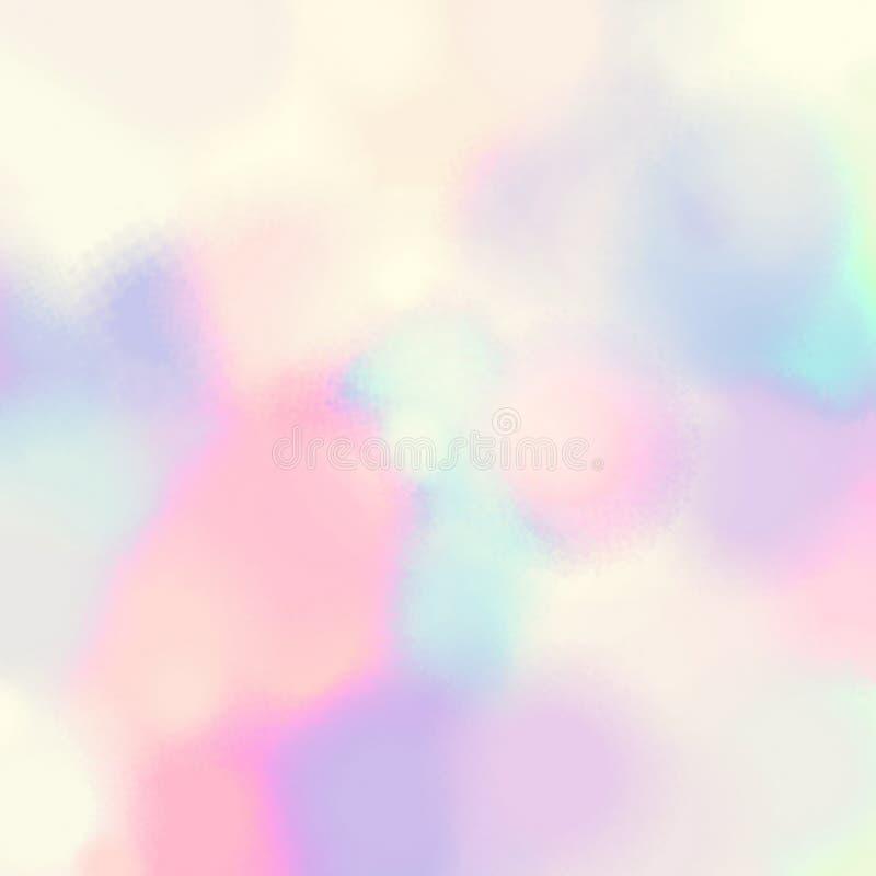Картина голубых хаотических пятен пинка акварели абстрактная иллюстрация вектора