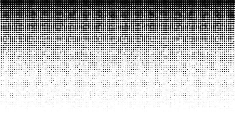 Картина горизонтального градиента полутонового изображения Предпосылка используя текстуру точек полутонового изображения случайну иллюстрация вектора