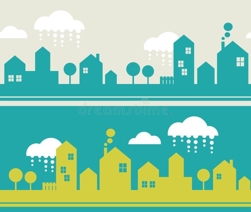Download Картина города безшовная. иллюстрация вектора. иллюстрации насчитывающей город - 37925851
