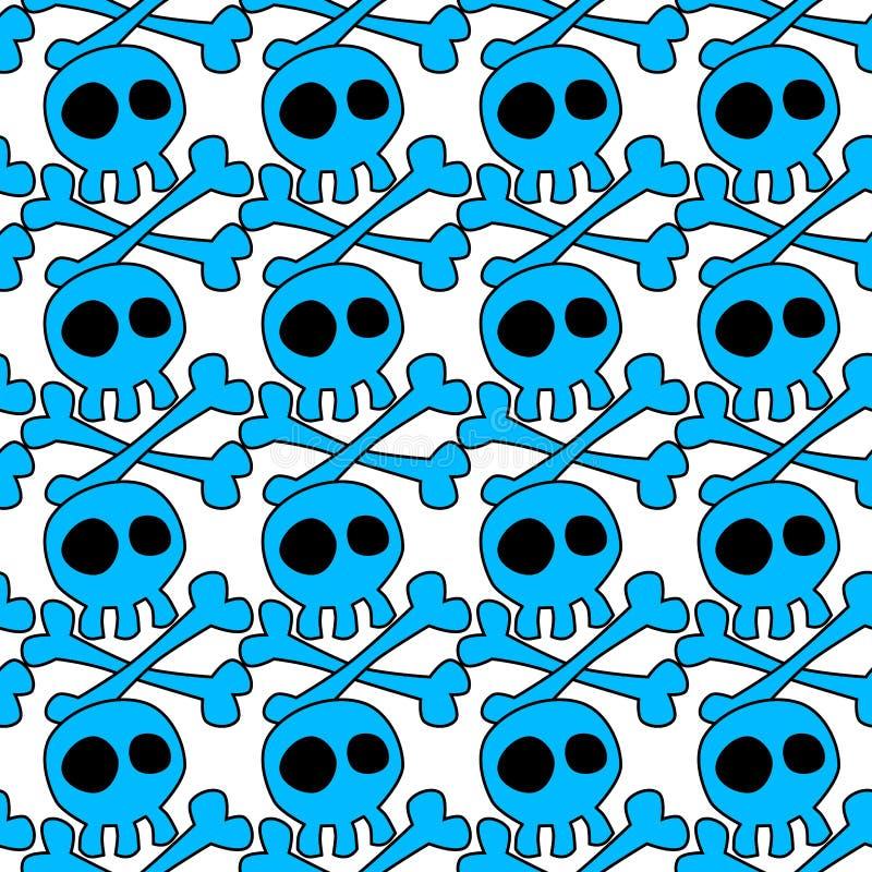 Картина головных скелетов безшовная иллюстрация штока