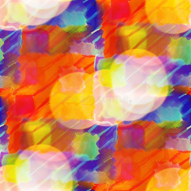 Картина голубая, se Bokeh красочная конспекта краски текстуры красной воды бесплатная иллюстрация