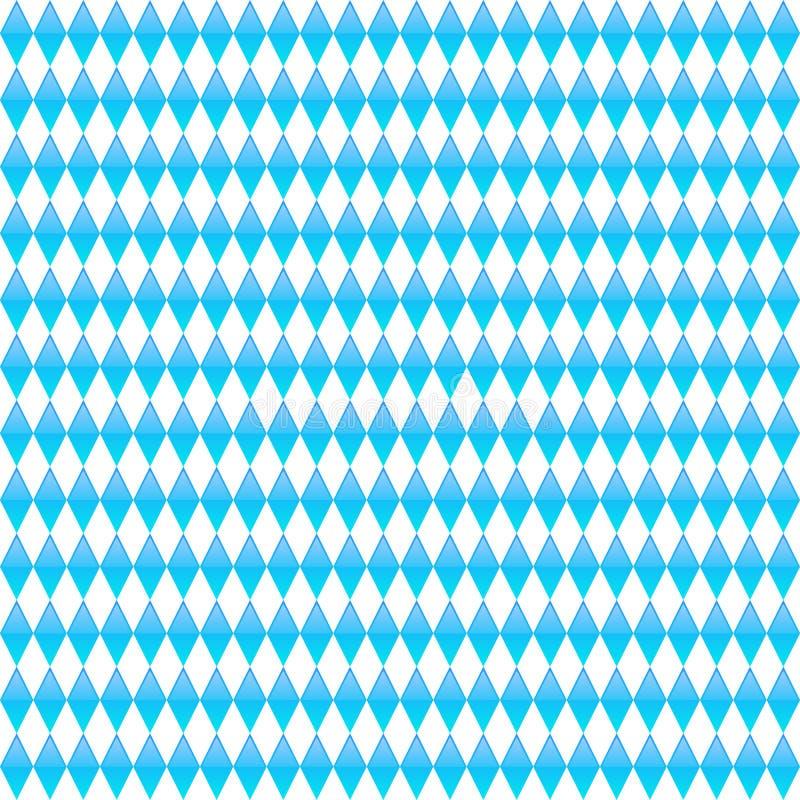 Картина голубого косоугольника безшовная Предпосылка вектора Octoberfest иллюстрация штока