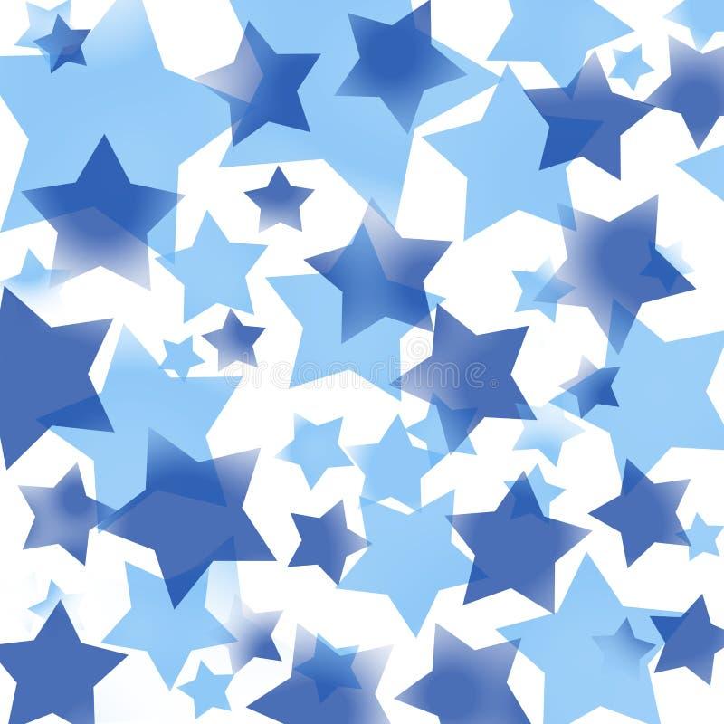Картина голубых звезд иллюстрация штока