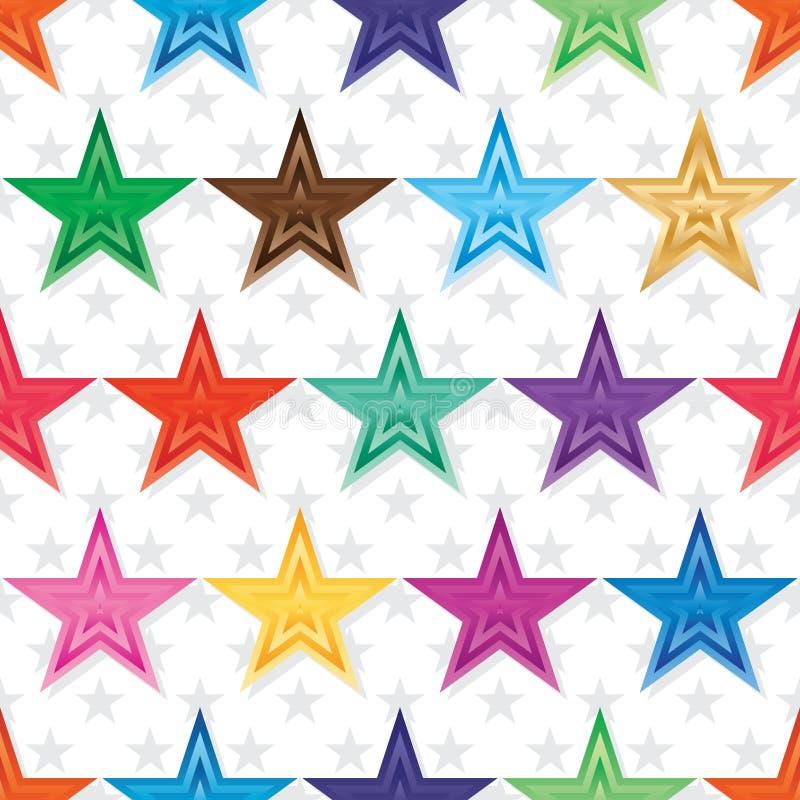 Картина градиента звезды белая безшовная бесплатная иллюстрация