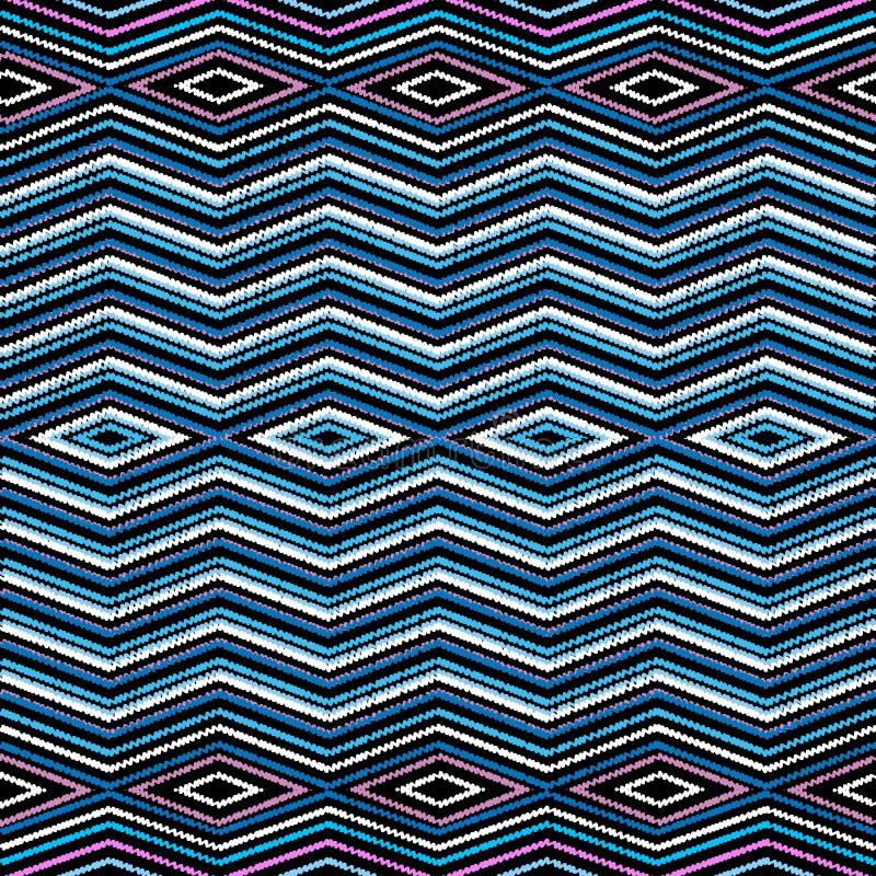 Картина границы геометрического вектора вышивки безшовная Абстрактный gr бесплатная иллюстрация