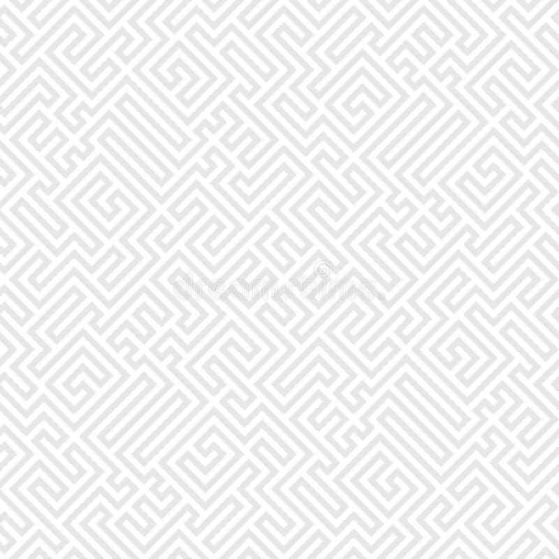 Картина Греции искусства винтажная этническая безшовная абстрактный повторяя t иллюстрация вектора