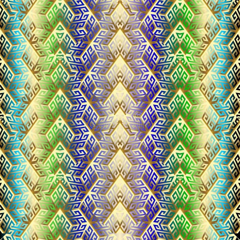 картина греческого вектора кубов золота 3d безшовная бесплатная иллюстрация