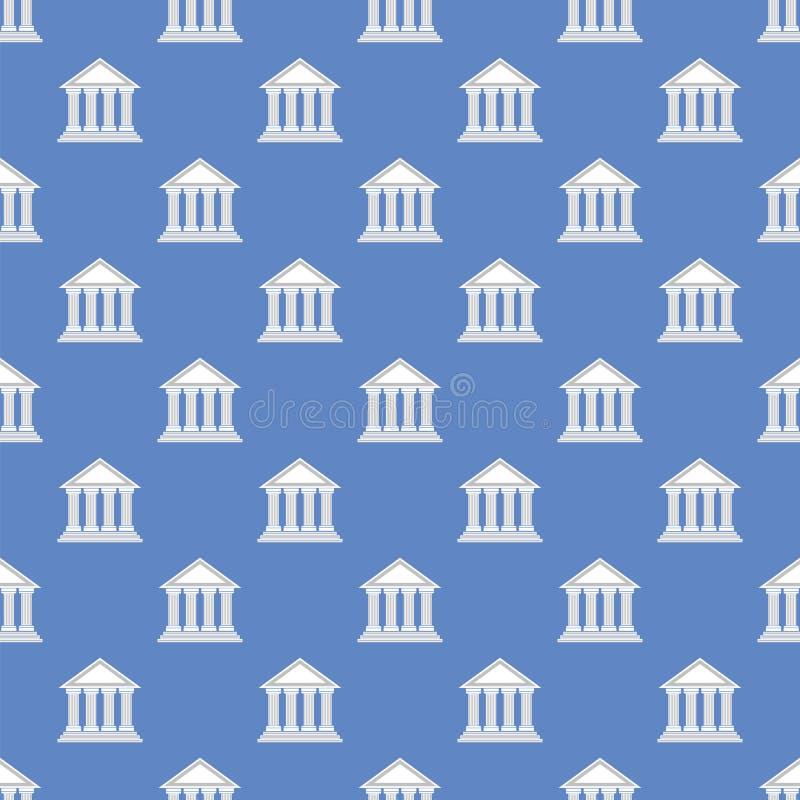Картина греческого значка виска безшовная иллюстрация штока
