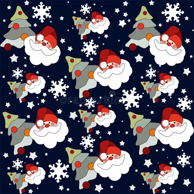 Картина Дед Мороз безшовная иллюстрация штока