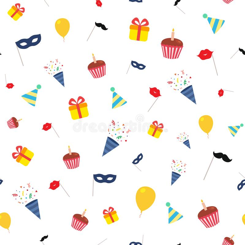 картина дня рождения счастливая иллюстрация штока
