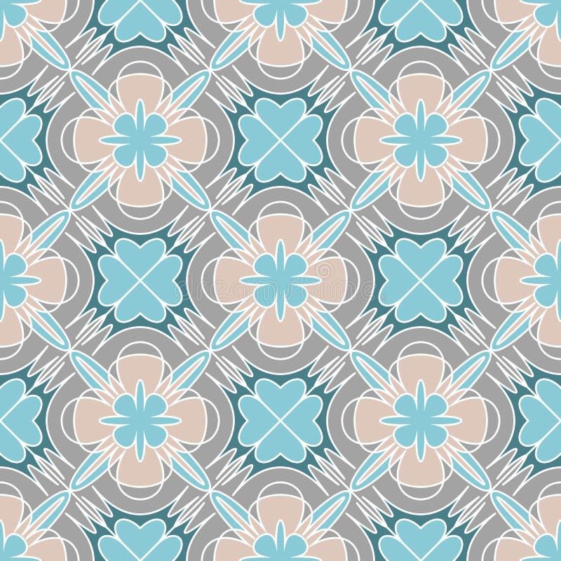 Картина декоративной мозаики безшовная иллюстрация штока