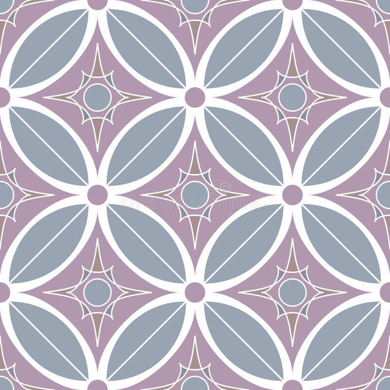 Картина декоративной мозаики безшовная иллюстрация вектора