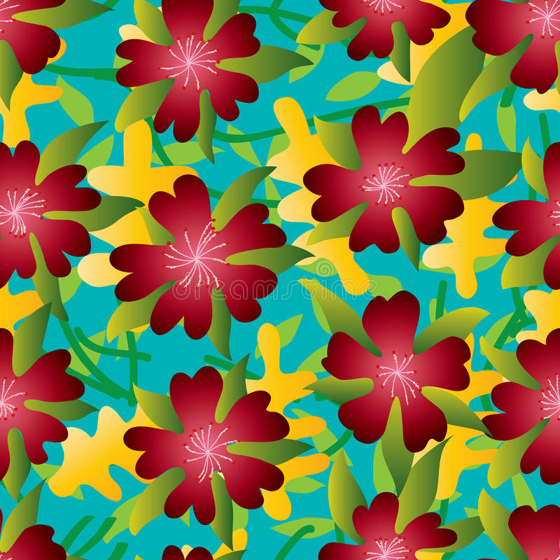 Картина лета лепестка цветка 5 красная безшовная бесплатная иллюстрация