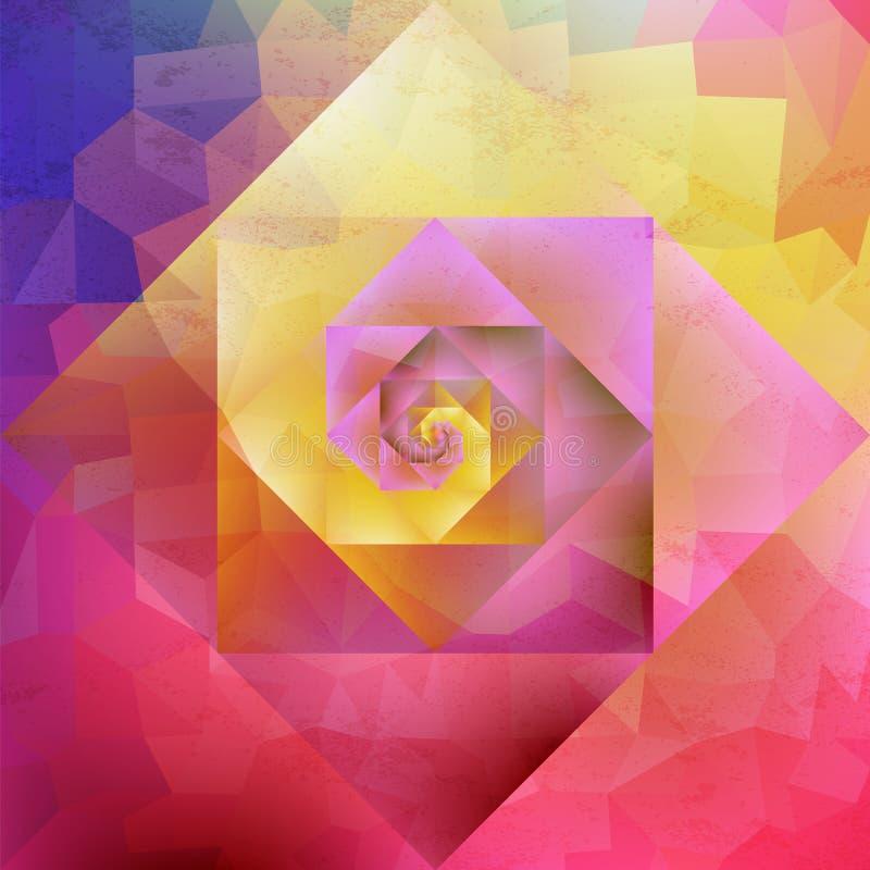 Картина живого винтажного оптического искусства геометрическая иллюстрация вектора
