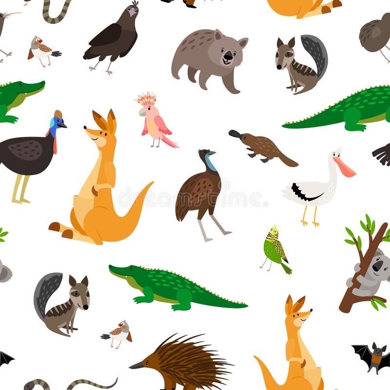 Картина животных Австралии иллюстрация вектора