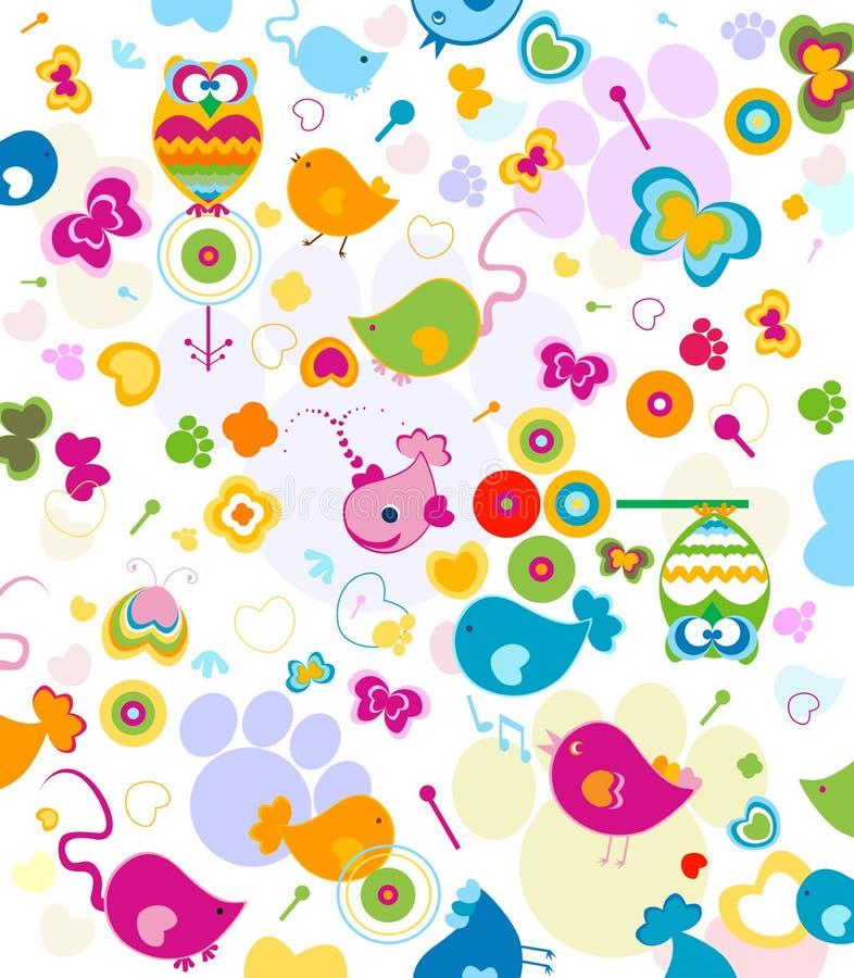 картина животных иллюстрация вектора