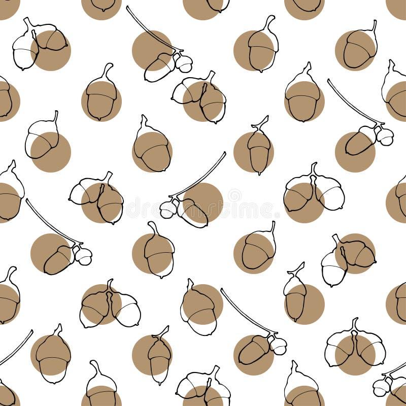Картина жолудей иллюстрация вектора