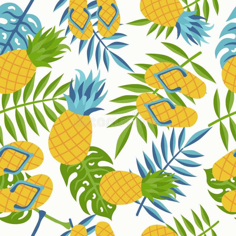 Картина джунглей ананаса тропическая на лето бесплатная иллюстрация