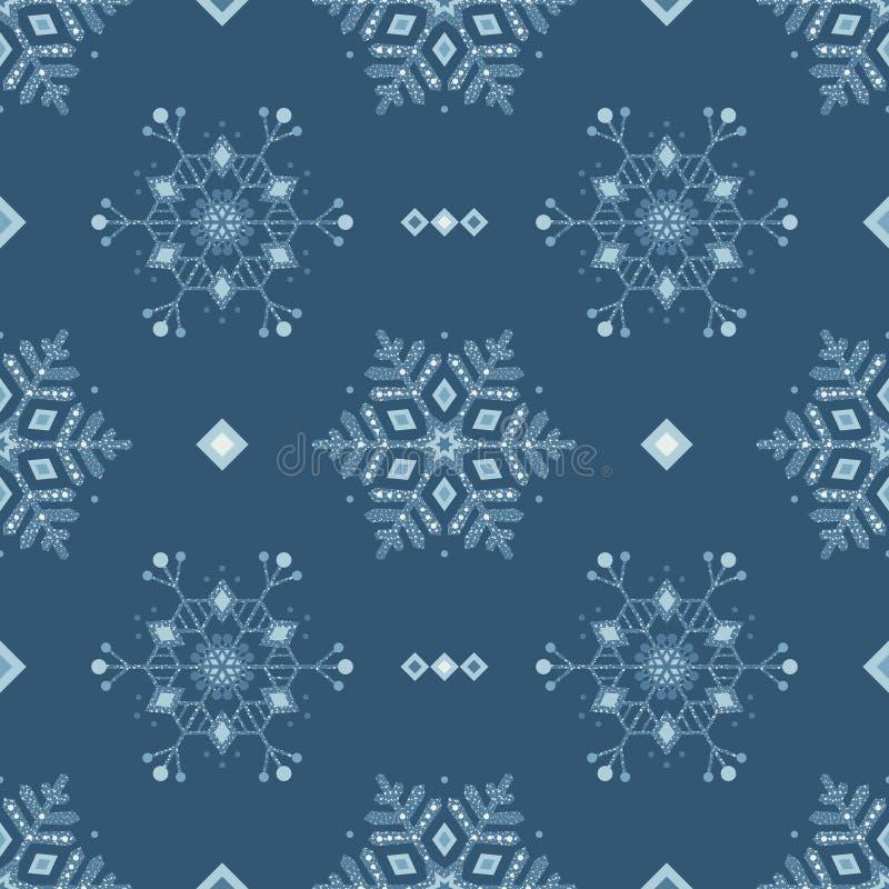 Картина замороженного grunge снега льда голубая безшовная стоковые фото
