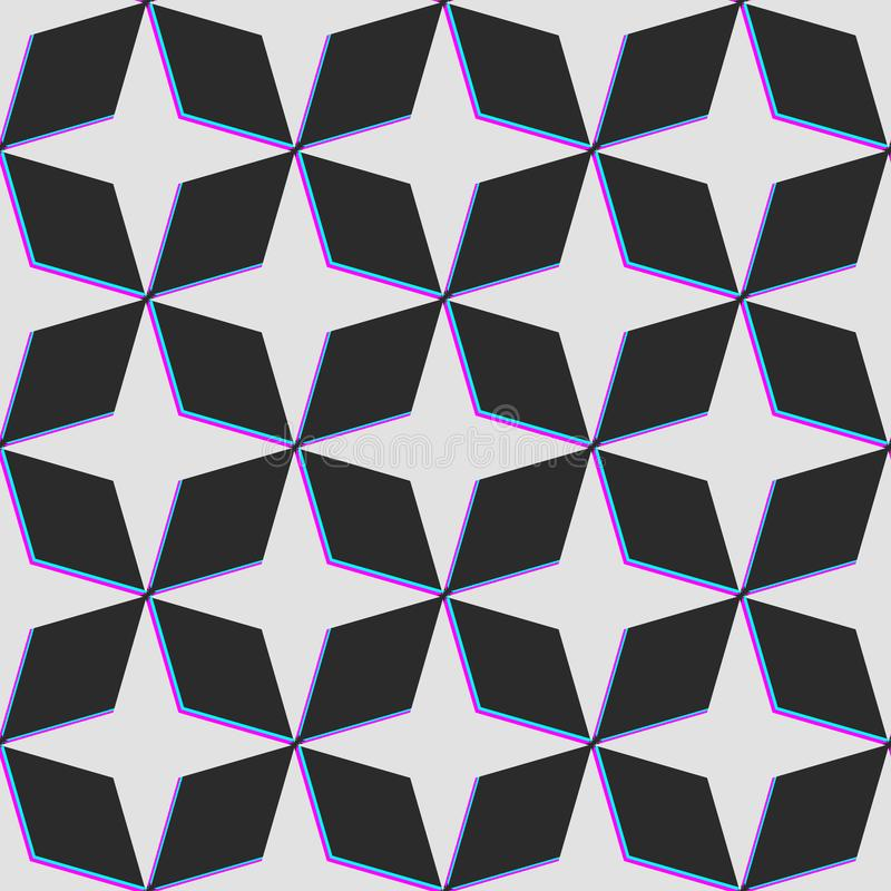 Картина звезды вектора с небольшим затруднением цвета искажения Темное backgroun иллюстрация штока