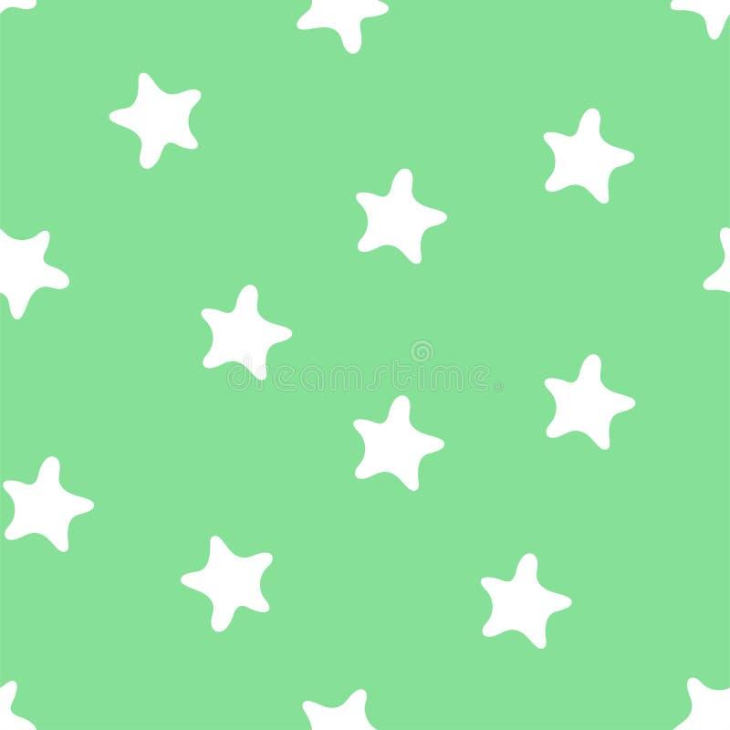 Картина звезд безшовная Печать моды ребенк Элементы дизайна для детей Doodle руки вычерченный повторяя формы бесплатная иллюстрация