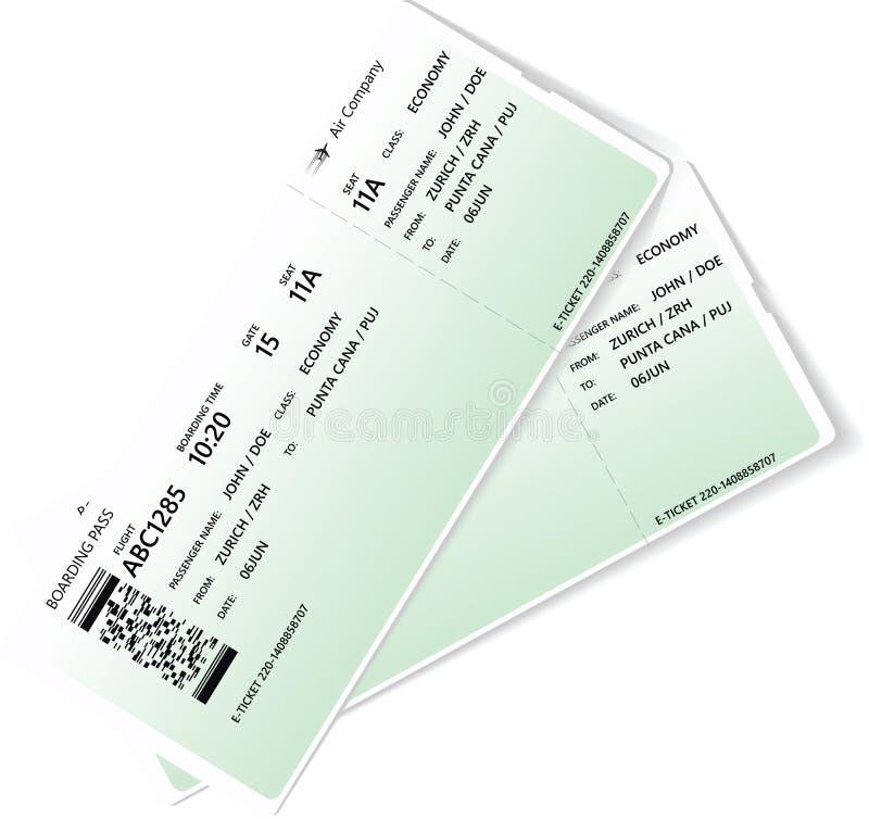 Картина зеленого билета посадочного талона авиакомпании бесплатная иллюстрация
