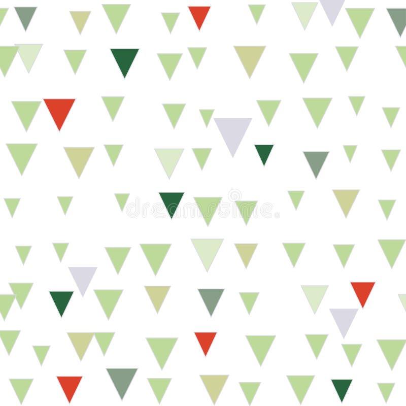 Картина зеленого и красного абстрактного рождества треугольника безшовная бесплатная иллюстрация