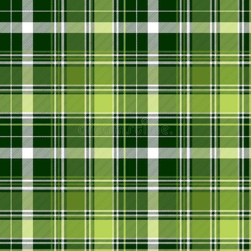 Картина зеленой ирландской раскосной шотландки конспекта безшовная иллюстрация штока
