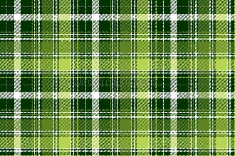 Картина зеленой ирландской раскосной шотландки конспекта безшовная иллюстрация вектора