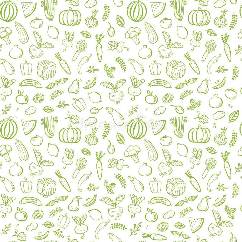 Картина зеленых овощей безшовная бесплатная иллюстрация