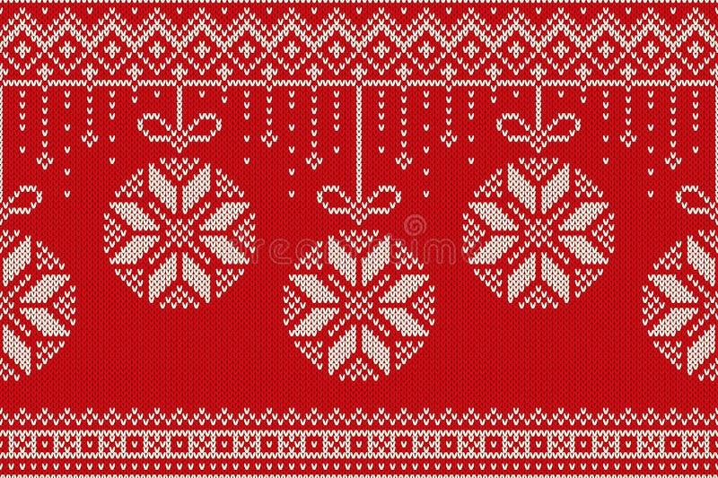 Картина зимнего отдыха безшовная вязать Предпосылка Кристмас и Новый Год иллюстрация штока