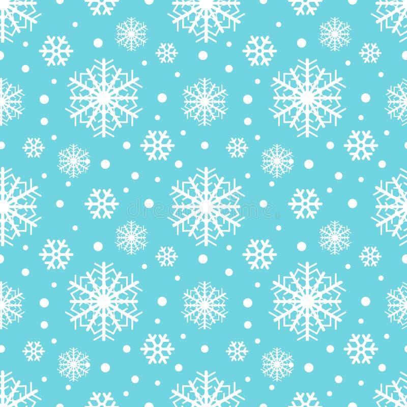 Картина зимы снежинок безшовная, предпосылка рождества также вектор иллюстрации притяжки corel иллюстрация вектора