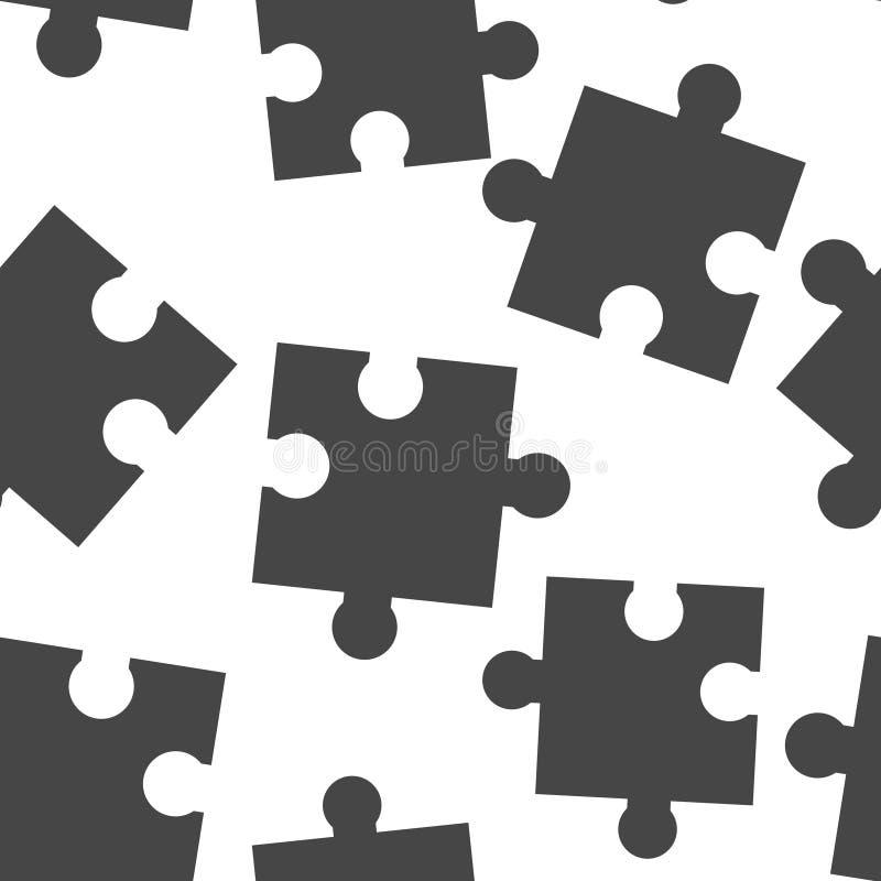 Картина значка головоломки вектора безшовная на белой предпосылке бесплатная иллюстрация