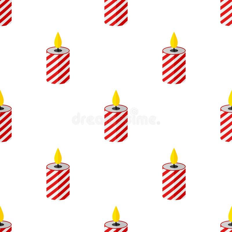 Картина значка свечи рождества безшовная бесплатная иллюстрация