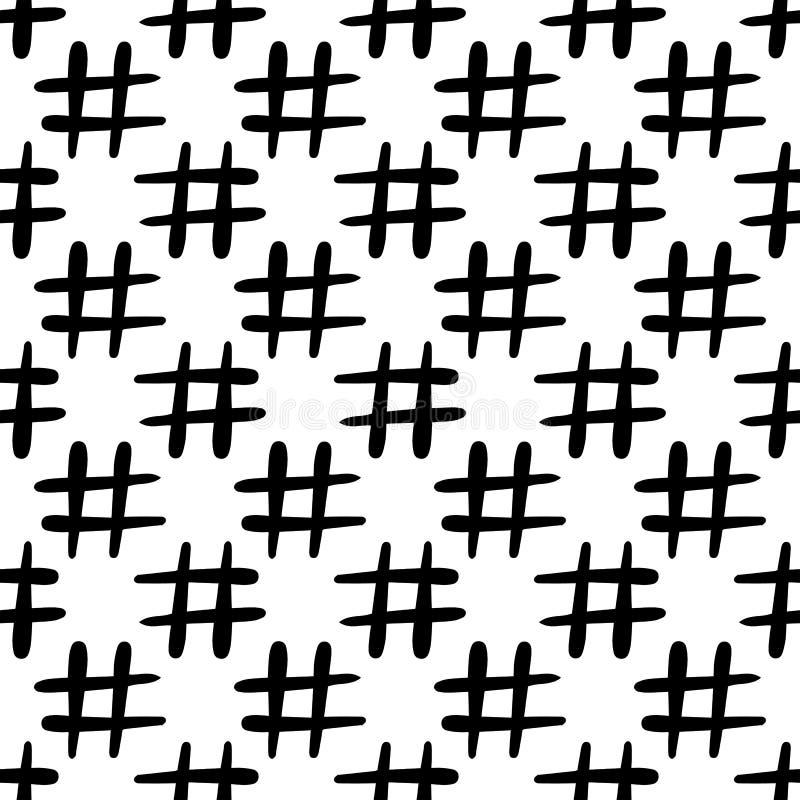 Картина значка Hashtag безшовная r иллюстрация штока
