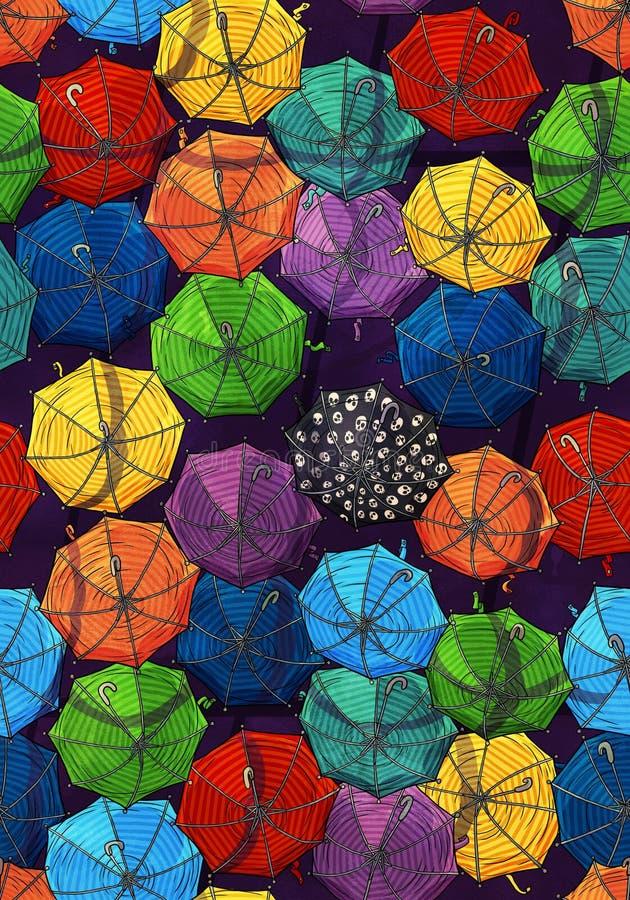 Картина зонтика стоковая фотография
