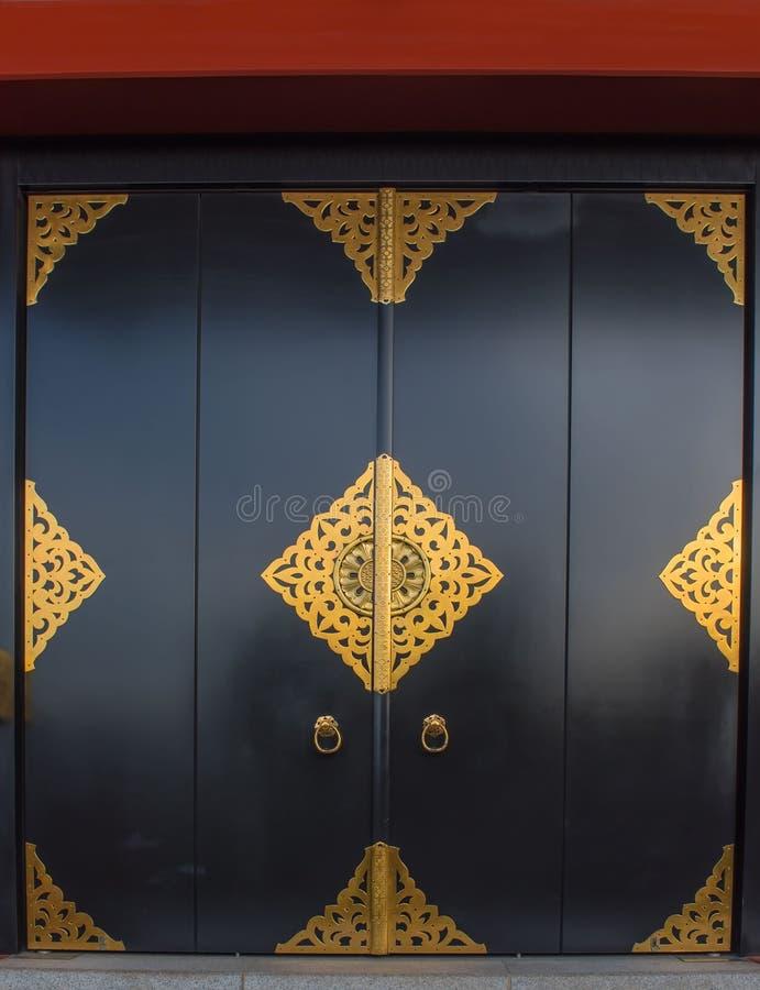 Картина золота двери виска Senso-Ji, японское старое, asakusa, токио, Япония стоковое фото