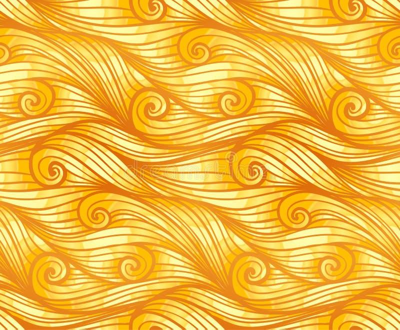 Картина золотого курчавого шерстяного вектора безшовная иллюстрация вектора