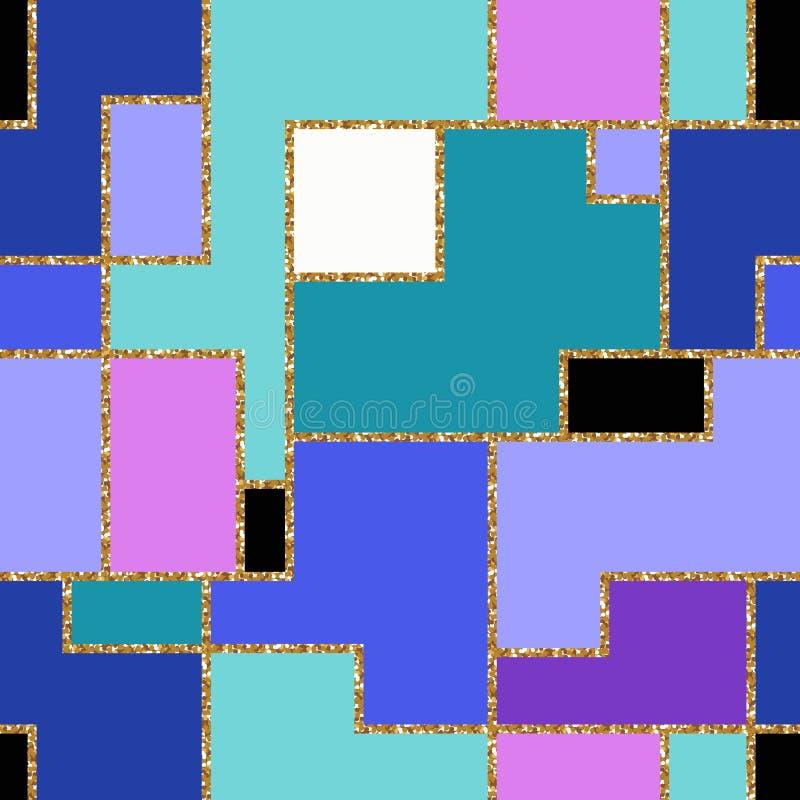 Картина золотых нашивок безшовная также вектор иллюстрации притяжки corel иллюстрация штока