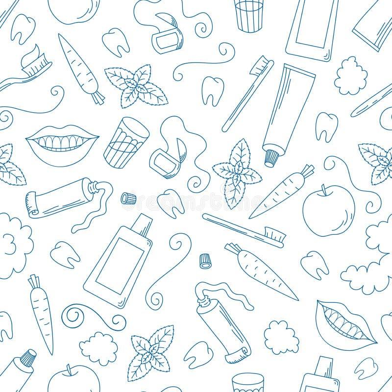Картина зубоврачебной заботы безшовная стоковая фотография