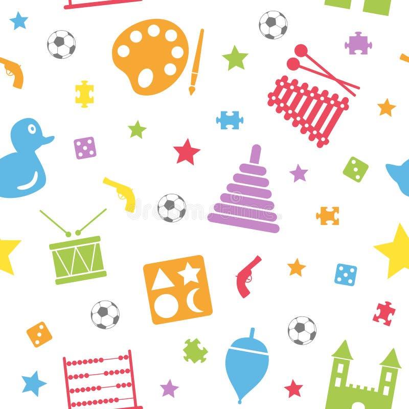 Картина игрушек малышей безшовная [2] иллюстрация штока